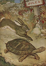 illustration from the tortoise and the hare