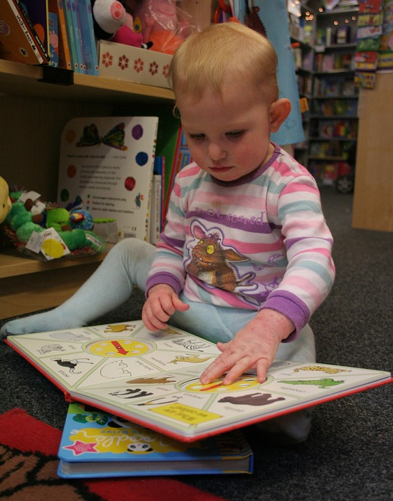 Baby reads