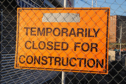 Temporary Closed SIgn