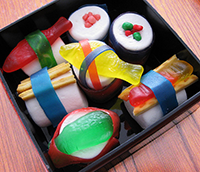box of candy sushi