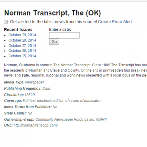 Norman Transcript Archive - Newsbank
