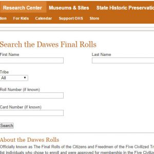Dawes Final Roll Index Online